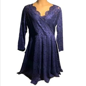 NWT MissMay navy lace long sleeve dress size 2X